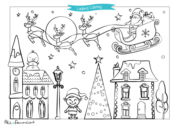 Christmas in Lapland Colouring | Petit-Fernand