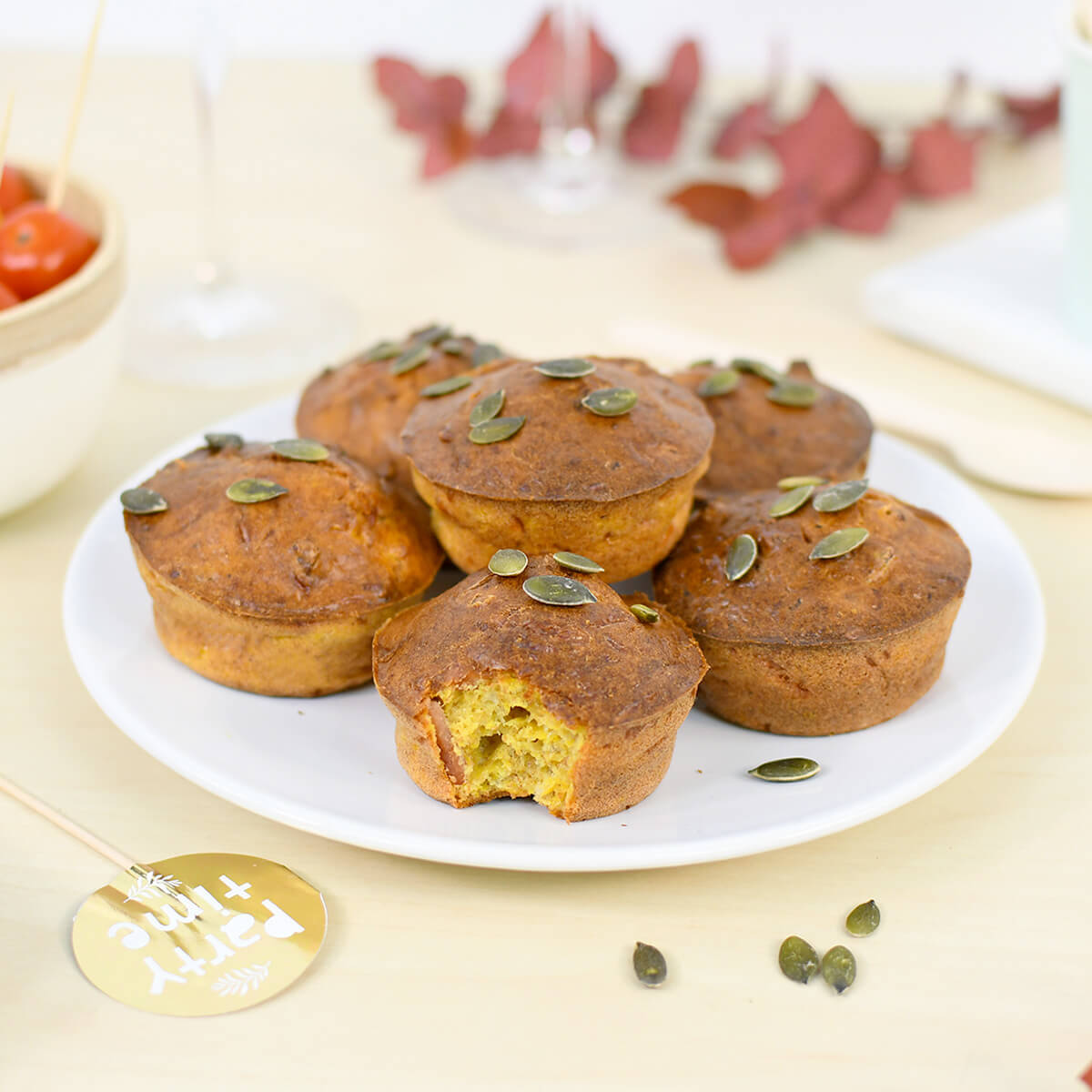Don't miss our super easy pumpkin and comte cheese muffins recipe!