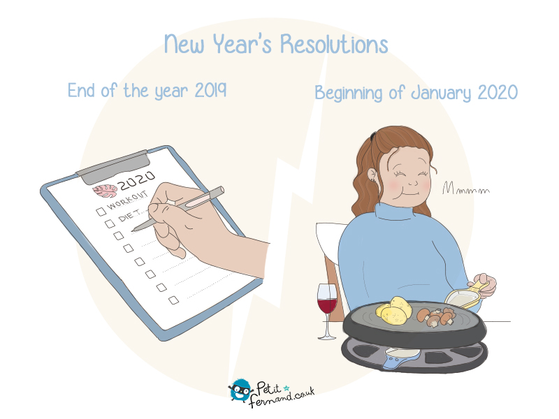 After the excesses of December 31, we always want to start the new year with good resolutions often not easy to keep. Find all our humours on the blog.