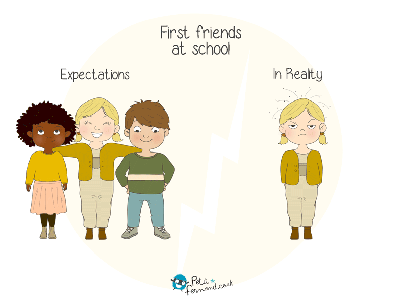 When your kid starts school, you know that you have to be prepared for his new friends to be small and a bit invasive!