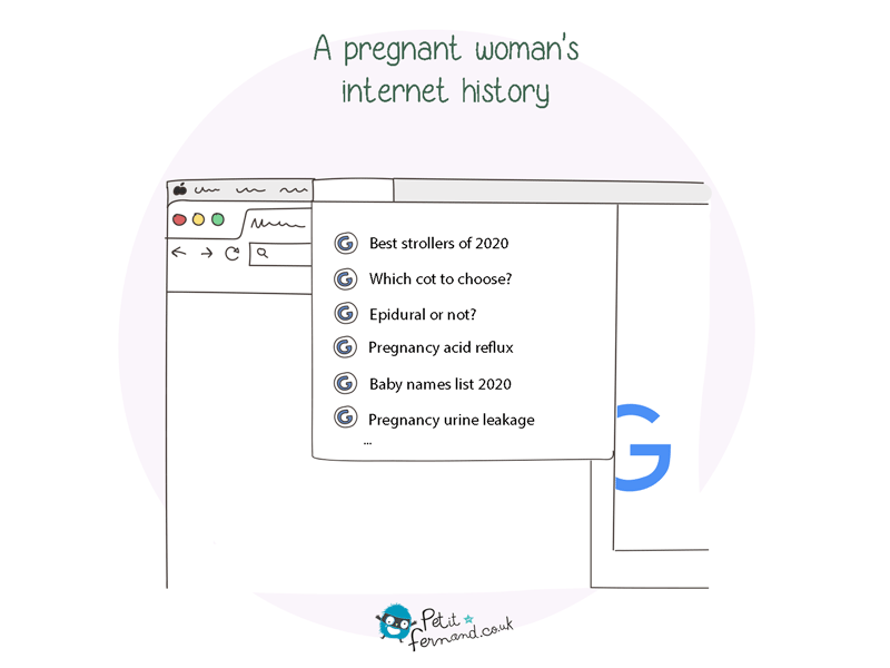 All the questions we ask to ourselves when pregnant are inevitably found in our internet history!