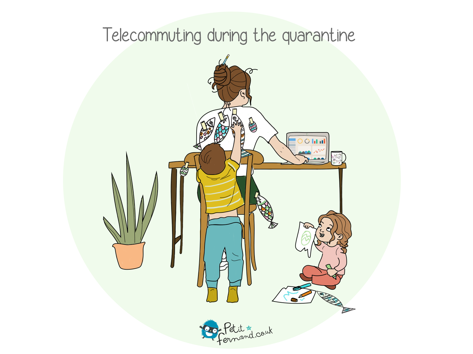 During quarantine, managing children and telecommuting is not easy at all!