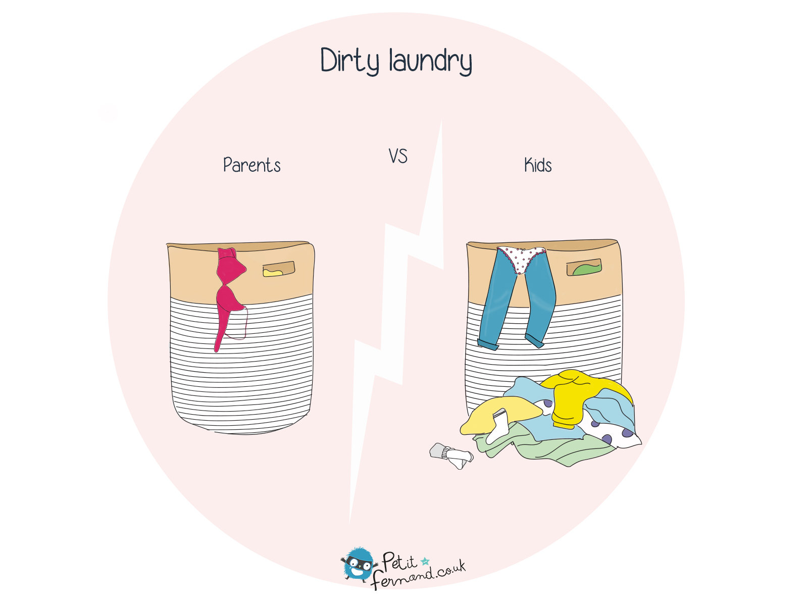 How parents see dirty laundry is never the same as how children see it...