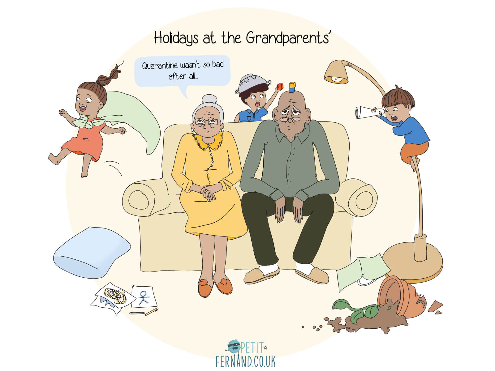 During the holidays, many of us dream of leaving the children at their grandparents' house… much to their dismay!