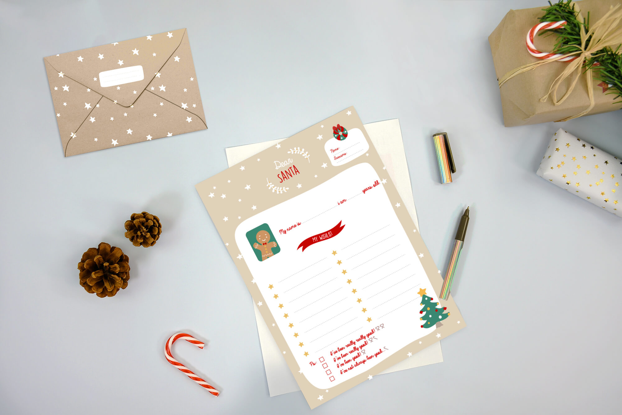 Download our letter to Santa template for free, get your Christmas Wishlist prepared with our pretty letter to Santa template!