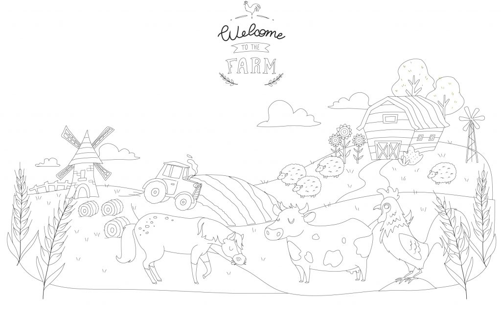 Let your children discover the world of the farm with our colouring book and tutorials to download for free!